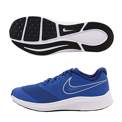 Nike Star Runner 2 (GS), Zapatillas Unisex Niños, Azul (Game Royal/Metallic Silver 400), 40 EU