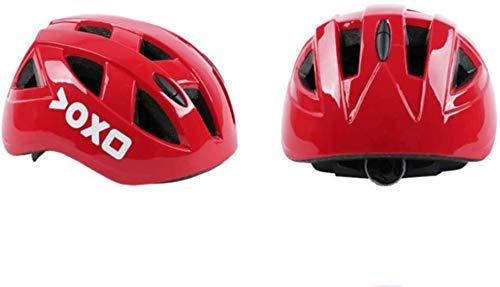 MDWK Casco de Bicicleta-Seguridad C/¨/®Modo Ligero Transpirable Ajustable Casco de Scooter con luz de Advertencia para Ciclismo Hombres Mujeres
