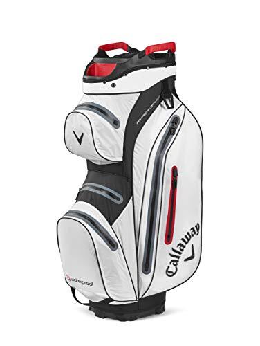 Callaway Golf Hyper Dry 15 Cart Bag 2020, Unisex, Callaway Hyper Dry 15 Einkaufstasche, Weiß / Schwarz / Rot, 5120030, weiß / schwarz, Einheitsgröße