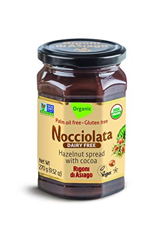 Rigoni di Asiago Spread Hazelnut and Cocoa Dairy free Organic, 9.52 oz