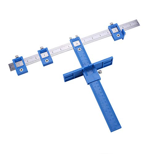 Detachable Hole Punch Locator Jig Tool Drill Guide Sleeve for Drawer Cabinet Hardware Dowel Wood Drilling Hole Punching Ruler,A
