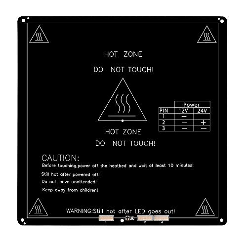 DollaTek Base riscaldata PCB da 3 mm in alluminio mk3 per stampante 3D standard reprap