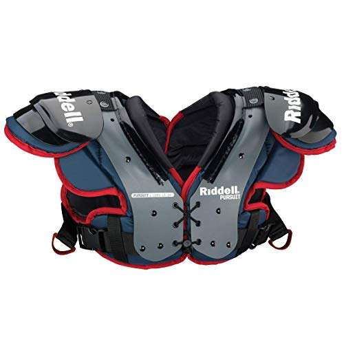 Riddell Pursuit Youth Shoulder Pad, Small , Blue/Red