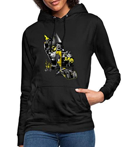 Batman 80 Ans Batmobil Sweat À Capuche Femme, M, Noir