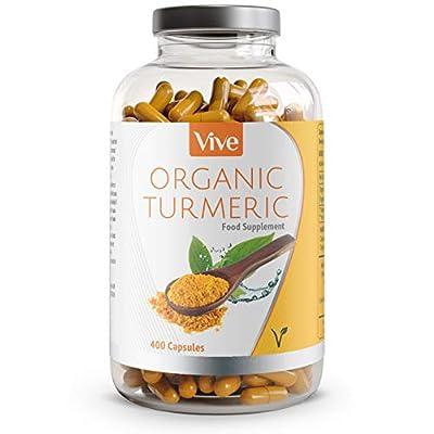 Turmeric Organic with BioPerine | 120 Vegetarian Capsules | Curcumin & Turmeric Supplement - 100% Natural Supplement & Satisfaction Guarnatee
