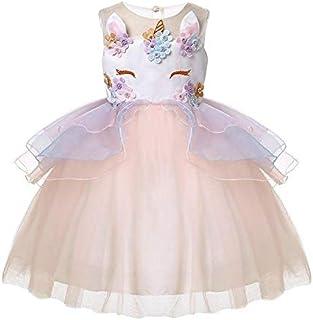 Children's Halloween Costume Ice Skirt Lace Tutu Unicorn Dress Subnet Yarn Holiday Dress Skirting