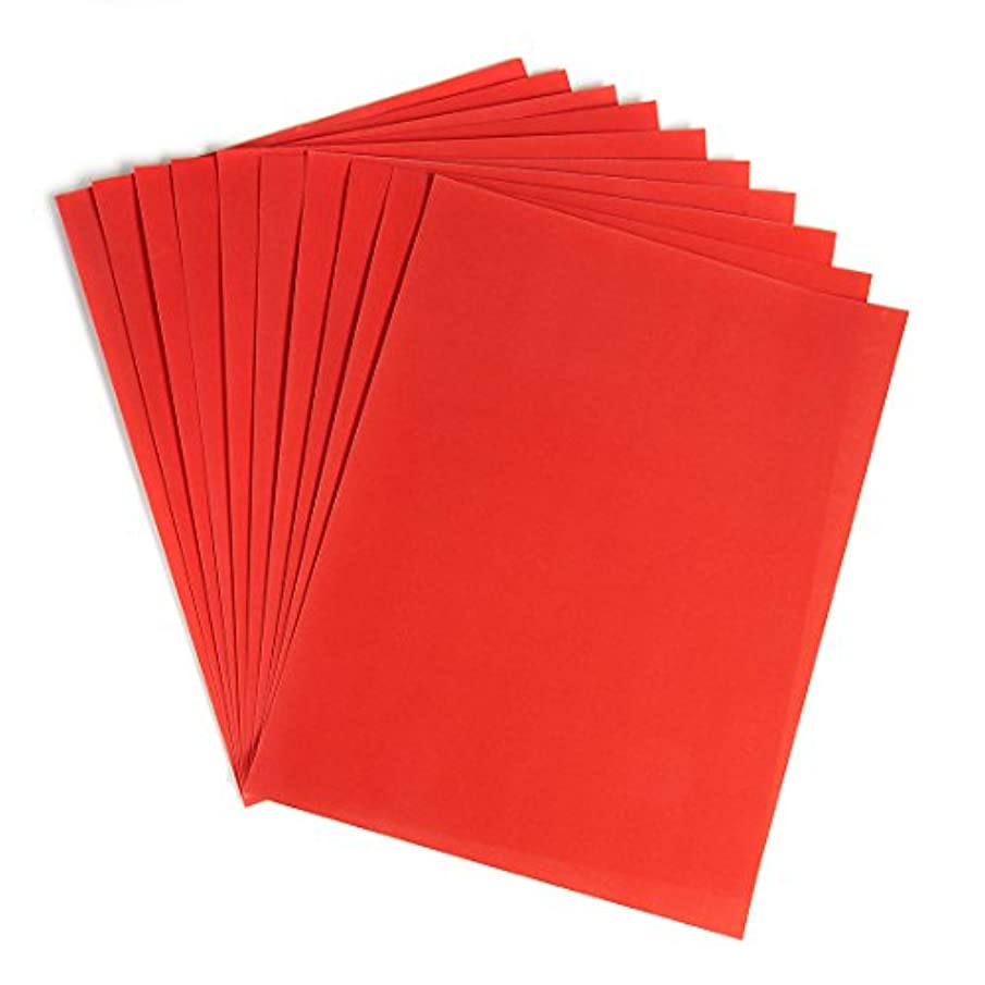 Hygloss Products Velour Paper - Soft, Velvety Surface Works With Printers – Orange, 8-1/2 x 11 Inches - 10 Pack