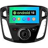 Android 10 Car Stereo Radio for Ford Focus 2012 2013 2014 2015 2016 2017,9 inch GPS Navigation Built-in DSP Bluetooth WiFi SWC MirrorLink Head Unit Auto Multimedia Player Radio