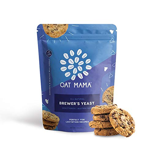 Brewer's Yeast Powder for Lactation - Oat Mama, Great for Lactation Support, Mild-Tasting, Debittered, Delicious in Lactation Cookies, Smoothies, + Lactation Recipes, Gluten-Free, Women-Owned, 26 Servings