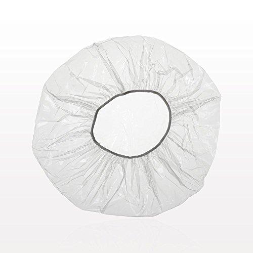 Scopri offerta per Fodlon Cuffia per doccia, 100 pezzi di cuffia per doccia monouso in plastica impermeabile trasparente per casa, hotel, spa e parrucchiere
