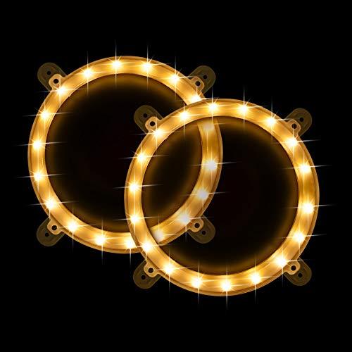 TongYu Set of 2 Cornhole Board Edge Night Lights,Light Up LED Lighting Cornhole Boards Kit, Long Lasting (72+ Hours) Great for Tailgates Backyard/Lawn Wedding BBQ & More! (Gold)