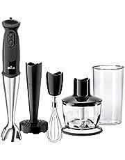Braun MultiQuick 5 Vario MQ 5137 Sauce Plus staafmixer, 750 W, hakmolen (500 ml), aardappel- en groentestamper, roestvrijstalen garde, EasyClick System, PowerBell technologie