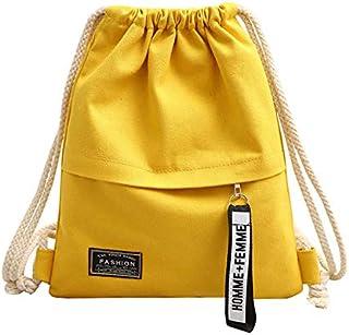 Huft Rucksack aus Segeltuch gelb