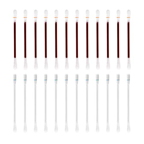HEALLILY hisopo de algodón con yodo alcohol desechable bastoncillo de algodón bastoncillo de desinfección médica para limpieza de heridas primeros auxilios de emergencia 100 piezas