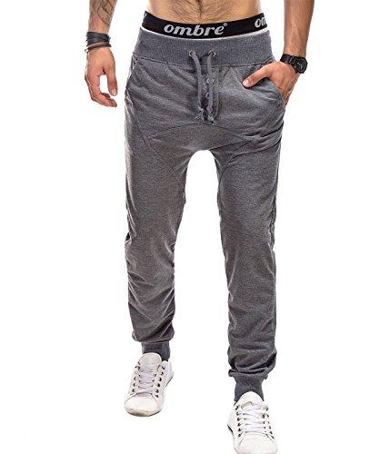 BetterStylz Heren Joggingbroek HobbsBZ Harem Slim Fit Sytle Sweatpants Jogger Fitness, Crotch Trainingsbroek 3 kleuren (M-XXL)
