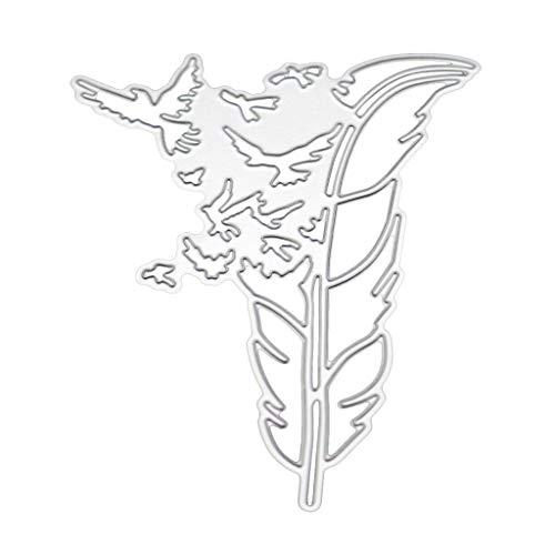 WuLi77 Feder Metall Stanzschablone Die Stanzen Zum Basteln Von Karten, Prägeschablone Für Scrapbooking, DIY Album, Papier, Karten, Kunst, Dekoration