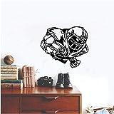 YXBB Stickers muraux décoration Chambre Chambre PVC Ballon de Rugby de Football Sportif 48x56cm
