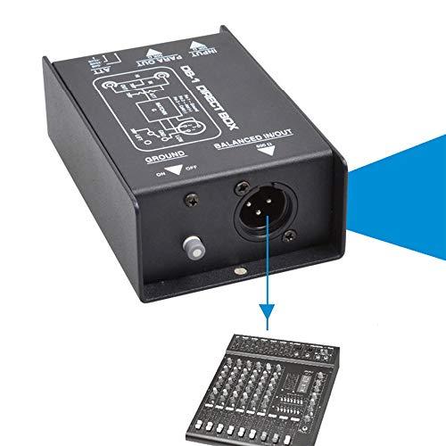 GNSDA premium audiobox met directe inspuiting, bremmeliminator van de passieve DI-eenheid met ingangsdemper voor het aansluiten van de gitaarbas, 3 instelbare niveaus