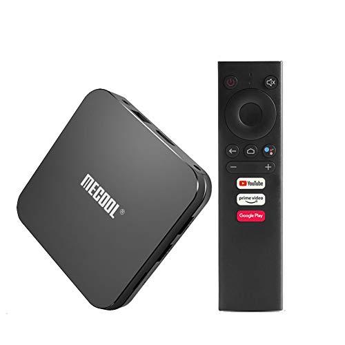 MECOOL KM9 PRO L 4K HD Android 10,0 Smart TV Box 4 GB di RAM 16GB / 32GB Media Player Amlogic S912 Octa CPU Core A53 Dual Wi-Fi LAN BT4.1 + HS con la Voce di Controllo remoto,Nero,16GB