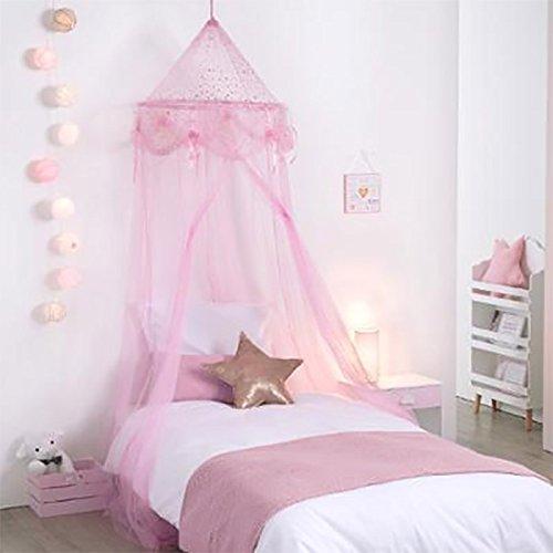 Générique Ciel de Lit Fille Princesse Rose avec étoiles