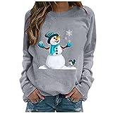 Womens Christmas Tops Cute Printed Tshirts...