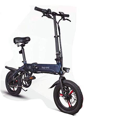 Bike,Fast Electric Bikes for Adults Lightweight and Aluminum Folding Electric Bikes with Pedals Power Assist and 36V Lithium Ion Battery with 14 inch Wheels and 250W Hub Motor Fixed Speed Cruis