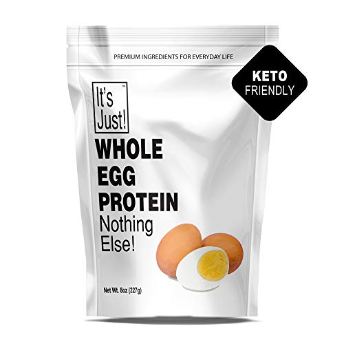 It's Just - Whole Egg Protein Powder, Nothing Else, Made in USA, Non-GMO (8oz)