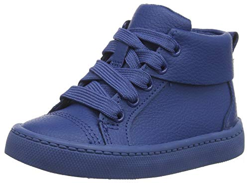 Clarks Jungen City Oasis HT Hohe Sneaker High-Top, Blau (Dark Blue Lea Dark Blue Lea), 22 EU