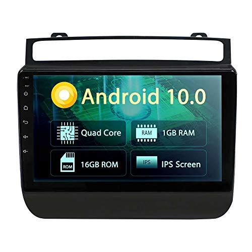 ROADYAKO 64 Go Android 8.0 Tableau de Voiture pour VW Touareg 2010 2011 2012 2012 2013 2014 Autoradio Stéréo Navigation GPS 3G WiFi Lien de Miroir RDS FM AM Bluetooth