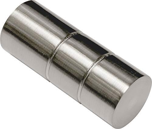 Gardinia Endknopf, Metall, Edelstahl-Optik, 0.1, 2