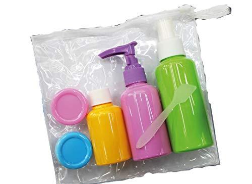 ST3844-5 kleurrijke reisflessen met PVC-tas