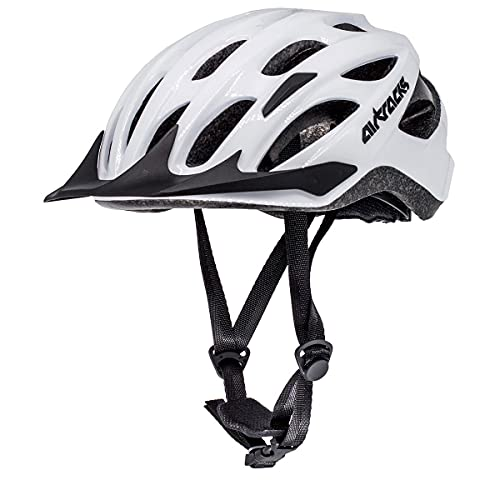 Airtracks Star K-60 - Casco de ciclismo (talla L/XL, 58-63 cm), color blanco