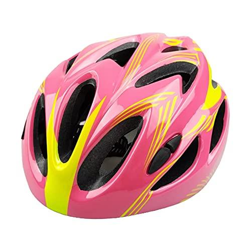 Generic Casco de Bicicleta para niños Ajustable Transpirable Duradero Casco de Bicicleta para niños y niñas Patines Scooter Deportes Sombrero de Seguridad - Rosa