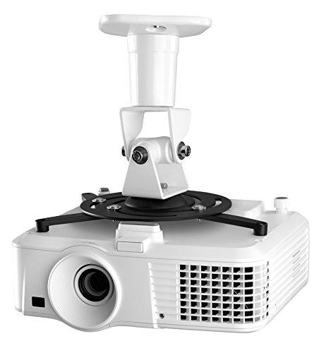 One For All universele houder voor projectoren/beamers - Max gewicht 15 kg - Volledig beweegbare bevestigingskop - zwart/wit - WM5320