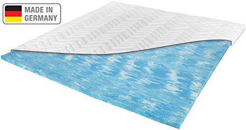 Meos® Gel-Schaum Topper 180x200cm für Matratzen & Boxspringbett - Made in Germany - hohes RG50 - Bezug bis 60°C waschbar - Matratzenauflage (180 x 200 cm)