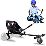Hishine Hoverboard Go Kart Seat Attachment, Heavy Duty Buggy, Accessories for Hoverboard, Go Cart for All Ages, Apply to Most 6.5', 8', 10' Hoverboard, Easy to Assamble, and Happy to Play (Black)