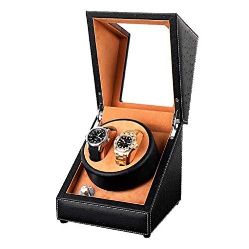 LULUTING Ningún logotipo hogar reloj devanaderas Watch Winder cuerda automática ultra silencioso Pantalla Highend mecánica cuadro decorativo Relojes caja de la tabla de la coctelera de rotación del mo