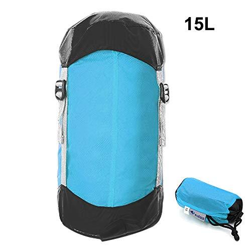 Générique Sac de Couchage de Compression Ultra léger avec Cordon de Serrage pour randonnée, Camping, Nemo (Couleur : 15 L)