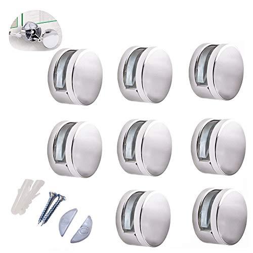 Spiegelhalterung Spiegelclip/Glasklemme/runde Glasbodenträger/Abstandshalter für Glas und Acrylglas/8 Stücke