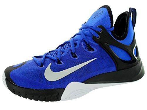 Nike Mens Zoom Hyperrev 2015 Lyon Blue/Mtllc Slvr/Blk/White Basketball Shoe 11 Men US