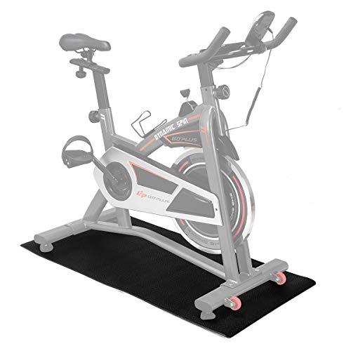 COSTWAY Bodenschutzmatte Fitnessgerät, Bodenmatte schwarz, Unterlegmatte für Bodenschutz, Multifunktionsmatte rutschfest, Schutzmatte Größewahl (1700x800x6mm)