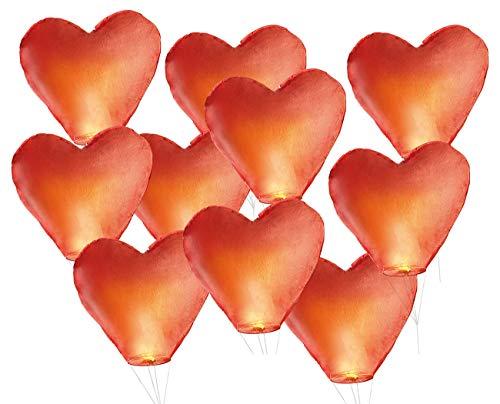 Nakamari valeurs en forme de cœur avec ficelle de 10 lampes