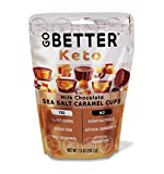 1 NET CARBS (PER SERVING) combined with great taste makes KETO easy. NO sugar, NO sugar alcohols, and NO artificial ingredients. CRAFTED WITH SIMPLE INGREDIENTS: Go Better Keto Milk Chocolate Caramel Cups are made with no preservatives and melt in yo...