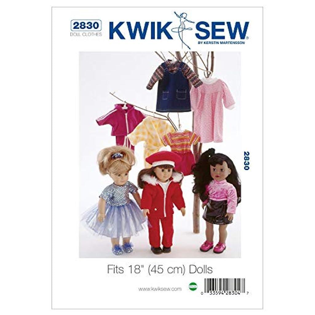 Kwik Sew K2830 Doll Clothing Fits 18-Inch Dolls Sewing Pattern, Size Fits 18-Inch Dolls
