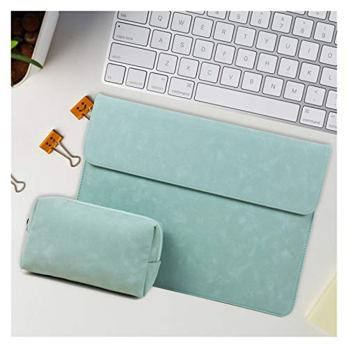 WSY Laptop Bag 15.6 for Macbook Pro 13 Case Funda Macbook Air 13 M1 A2337 A2338 Sleeve Briefcase Notebook 11 12 13 14 15 16 (Color : Style1 Green, Size : Old Air A1466 A1369)