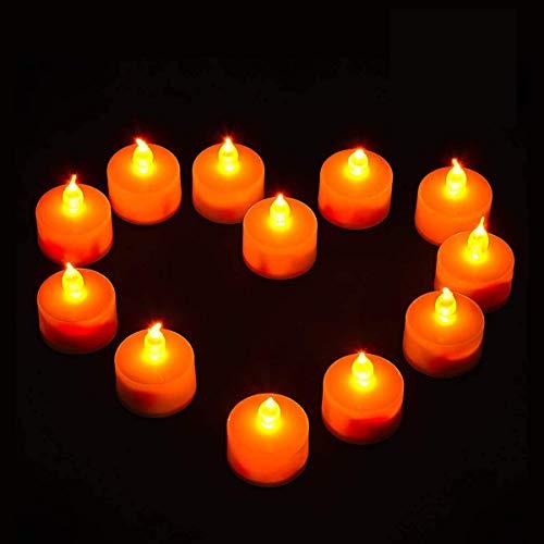 Vockvic LED Pequeñas 12PC, Electrónica Lámpara de mesa Luz de Té Bateria...
