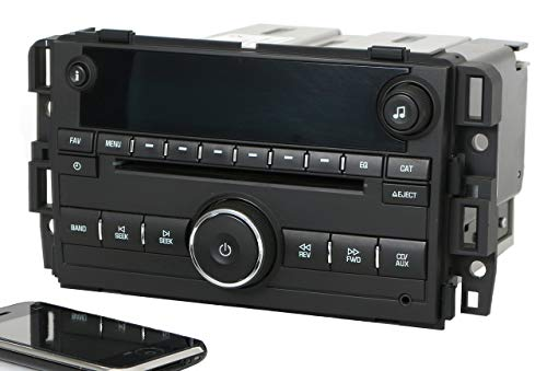 Factory Radio AM FM CD w Bluetooth Radio Compatible with 2007-13 Chevy GMC Truck Van 25941137 (Renewed) 5