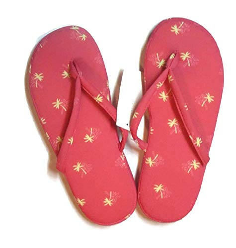 Character Club - Pantofole da donna con stampa, Rosa (Palm Tree Pink), X-Large