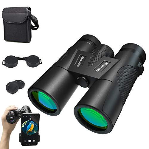 MELOPHY 12 × 42 Binocolo per Adulti e Bambini con Visione Notturna, binocolo Pieghevole Compatto per Birdwatching Escursionismo all'aperto, tiro e Giochi Sportivi (12 × 42)