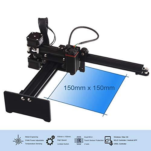 Preisvergleich Produktbild TXHM35 Gravur Carving Machine,  Micro Laserengraver Drucker hohe Präzision 0, 075 mm USB Laser Logo Mark für Holz Kunststoff Bambus Gummi Leder Metall (20000mW)